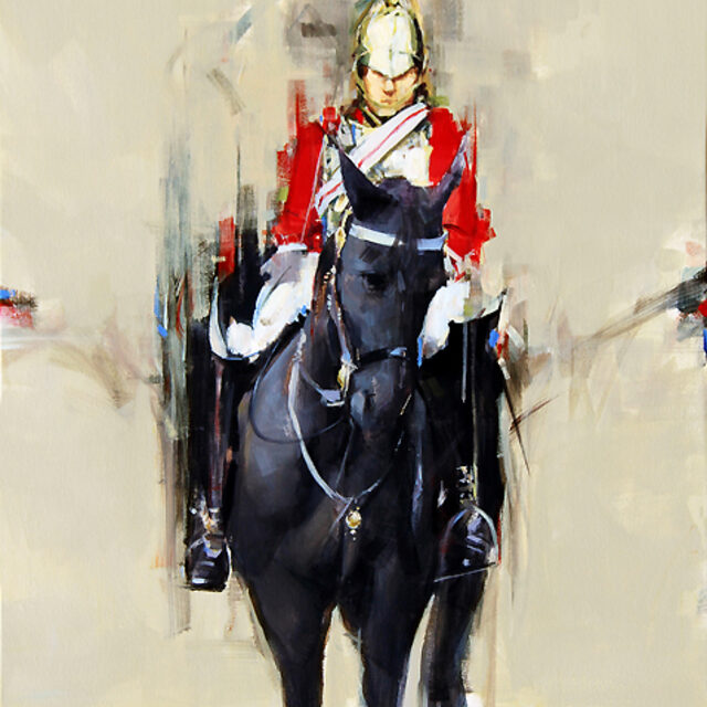 her majesty's guards_ acrylic on canvas_24x30 inches